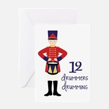 12 dRuMMeRS dRuMMiNG Greeting Cards