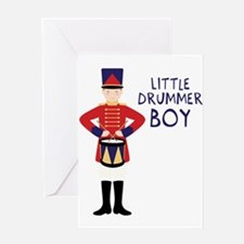 LITTLE BRUMMER BOY Greeting Cards