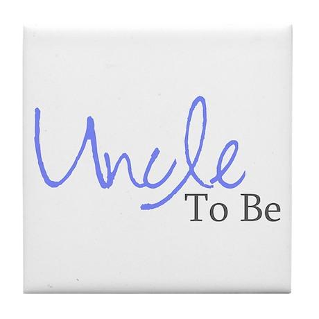 Uncle To Be (Blue Script) Tile Coaster