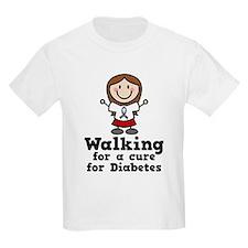 Diabetes Walking For Cure T-Shirt