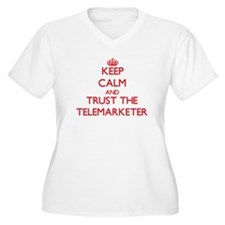 Keep Calm and Trust the Telemarketer Plus Size T-S