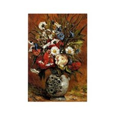 Gauguin - Daisies and Peonies in  Rectangle Magnet