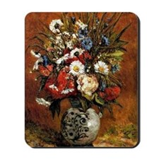 Gauguin - Daisies and Peonies in a Blue  Mousepad