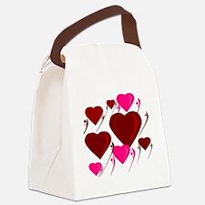 Love Hearts Dream Canvas Lunch Bag