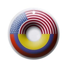 USA - Colombia Ornament (Round)