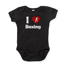 I Heart Boxing Baby Bodysuit