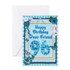 96th Birthday for a friend with a scrapbooking the
