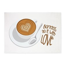 Baristas Do It With Love 5'x7'Area Rug