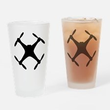 dji quadcopter sillhouette Drinking Glass