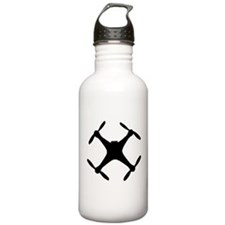dji quadcopter sillhouette Sports Water Bottle