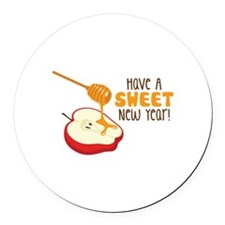 Have A SWEET New Year! Round Car Magnet