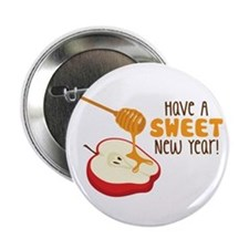 """Have A SWEET New Year! 2.25"""" Button"""