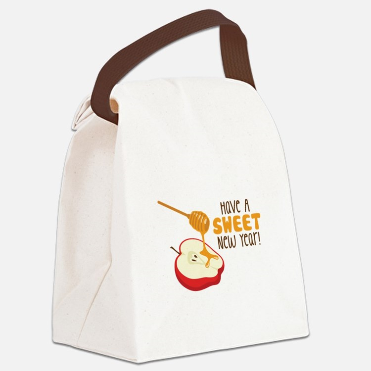 Have A SWEET New Year! Canvas Lunch Bag