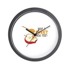 Have A SWEET New Year! Wall Clock