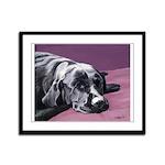 Black Labrador Beauty Sleep Framed Panel Print