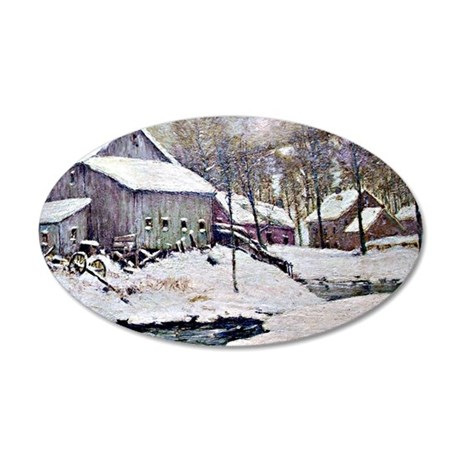 Julian Onderdonk - Winter on 35x21 Oval Wall Decal