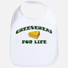 Cheesehead For Life Bib