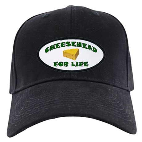 Cheesehead For Life Black Cap