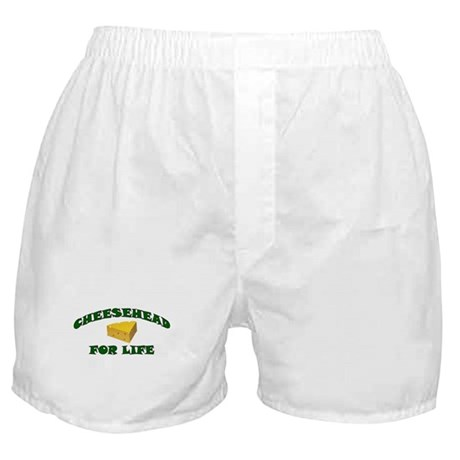 Cheesehead For Life Boxer Shorts