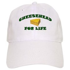 Cheesehead For Life Baseball Cap