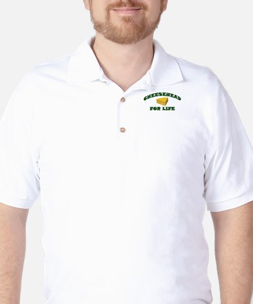 Cheesehead For Life Golf Shirt