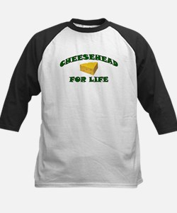 Cheesehead For Life Kids Baseball Jersey