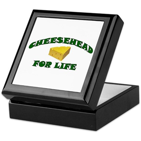 Cheesehead For Life Keepsake Box