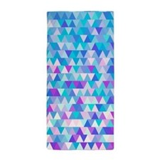 Blue Triangles, Beach Towel