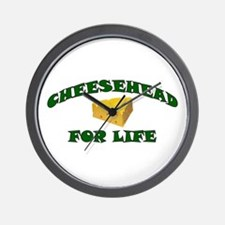 Cheesehead For Life Wall Clock