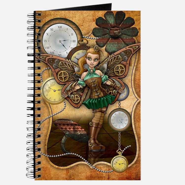 Steempunk Fairy, Cogs And Clocks Journal