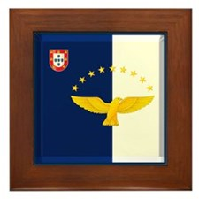 Azores islands flag Framed Tile