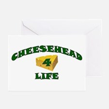 "Cheesehead ""4"" Life Greeting Cards (Pk of 10)"