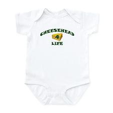 """Cheesehead """"4"""" Life Infant Bodysuit"""