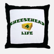 "Cheesehead ""4"" Life Throw Pillow"