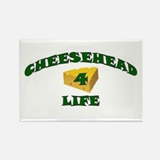 "Cheesehead ""4"" Life Rectangle Magnet"
