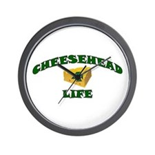 "Cheesehead ""4"" Life Wall Clock"