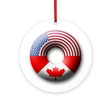 USA - Canada Ornament (Round)