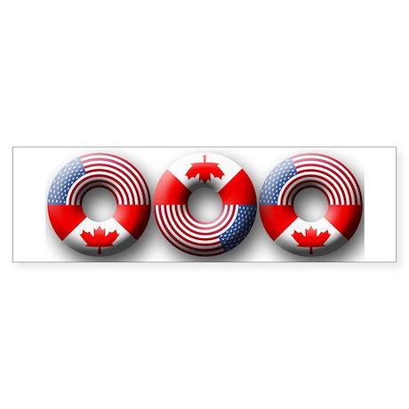USA - Canada Bumper Sticker