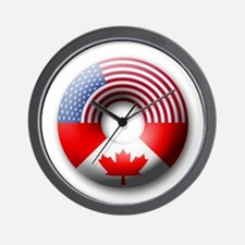 USA - Canada Wall Clock