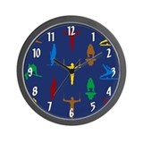 Mens gymnastics Wall Clocks