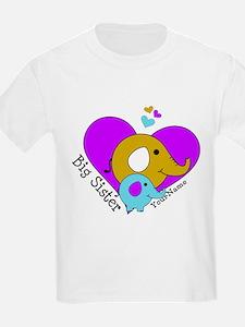 Big Sister Elephant Personalize T-Shirt