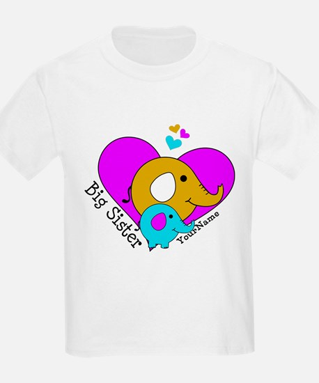 Big Sister Elephant Personalize T-Shirt