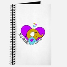 Big Sister Elephant Personalized Journal