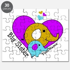 Big Sister Elephant Personalized Puzzle