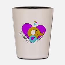 Big Sister Elephant Personalized Shot Glass