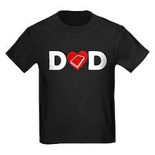 Book Heart Dad T-Shirt