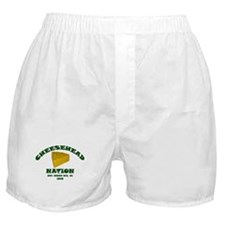 Cheesehead Nation Boxer Shorts