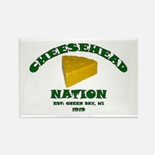Cheesehead Nation Rectangle Magnet