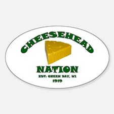 Cheesehead Nation Oval Decal