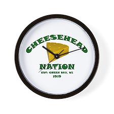 Cheesehead Nation Wall Clock
